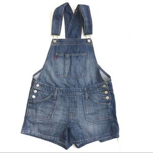 Levi's Vintage Medium Wash Denim Short Overalls